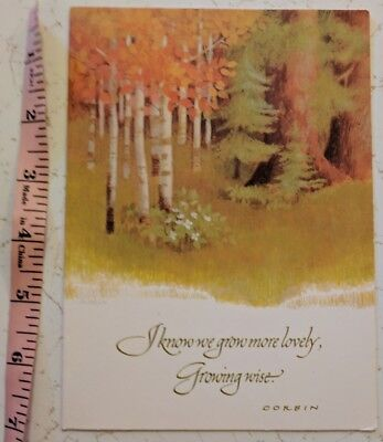 Vintage unused current inc linda k powell art current couriers post current inc birthday greetings card unused vintage fall autumn woods forest m4hsunfo