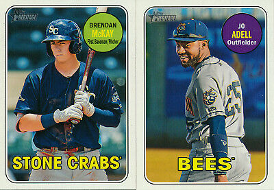 2018 Topps Heritage Minors - SP SHORTPRINTS #s 201-220 - U Pick From List