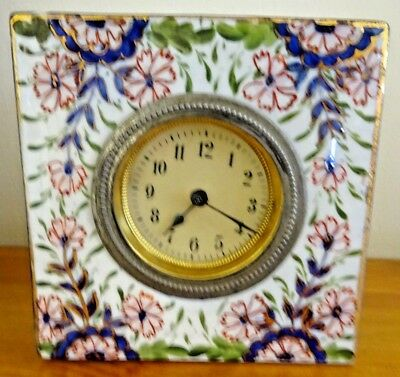 Vintage Hand-Painted Porcelain Mantle Clock Not Working