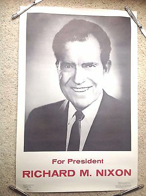 "Richard M Nixon For President Poster 22 1/2"" X 34"""