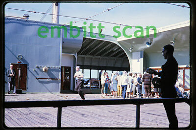 Original Slide, Aboard the P&O-Orient Lines Ocean Liner SS Oronsay in 1964, A