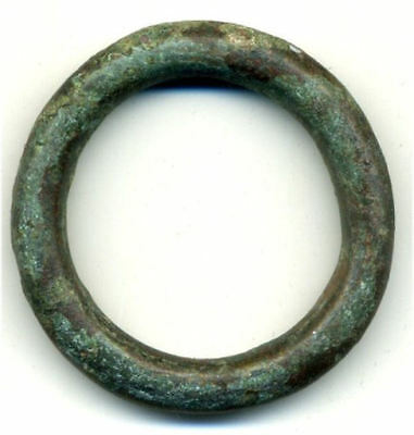 Huge & heavy authentic bronze Ancient Celtic ring money, 800-500 BC, Danube Area