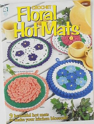 House Of White Birches Floral Hot Mats 9 Designs Cotton Yarn Crochet Pattern