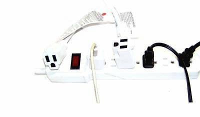 1 ft Power Extension Cord with 2 Outlets 15A 125V 1875W 14AWG/3SJT Gauge White