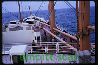 Original Slide, Aboard the Cunard Line Ocean Liner RMS Sylvania in 1963, A