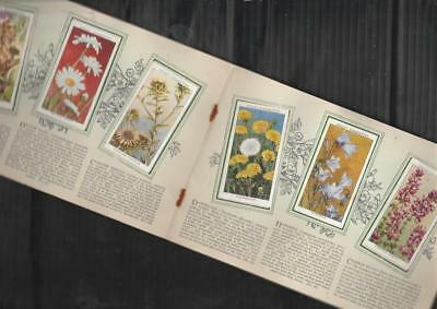 FULL SET 50 ALBUM SET WILD FLOWERS  2nd series 81YRS CIGARETTE CARDS