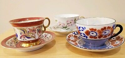 "Vintage ""Rossetti Handpainted Japan"" Tea Cup & Saucer w bird / Pheonix pattern"