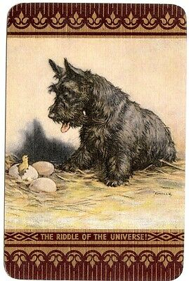 Playing cards swap cards vintage dogs Terrier English named linen