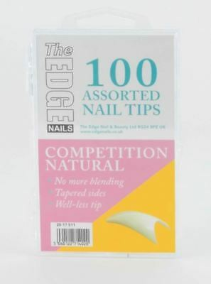 The Edge Naturel Competition 100 Assorted Ongles Artificiels Bien Less No