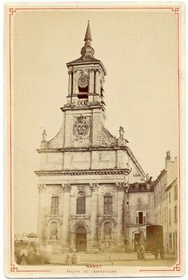 Bonsecours Church, Nancy, old Photo CC 1890' Eglise Diligence Voiture à Cheval