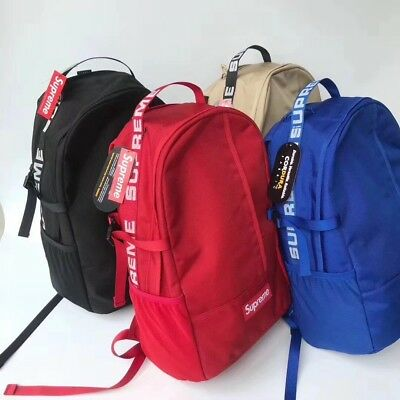 New supreme Backpack 18SS 44th FW17 Backpack 3M School Bag