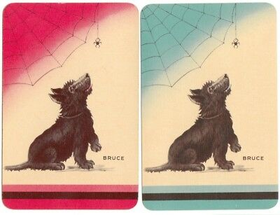 vintage Playing cards swap cards DOGS ENGLISH NAMED TERRIERS & Spider 'Bruce'