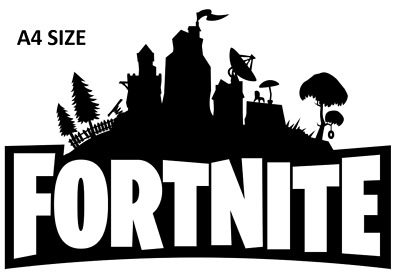 FORTNITE GAME LOGO A4 OR A5- Cake Topper Rice Paper + CUPCAKES