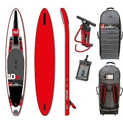 RED Max Race 10,6 SUP Komplett Set Stand Up Paddle Board aufblasbar RED SUP