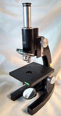 Bausch & Lomb Microscope 3.5-10 Monocular 3 Objective Parts VTG Laboratory