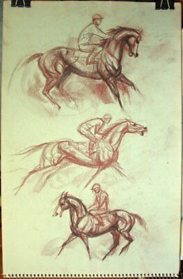 Maureen Love Original Horse Racing Sketches