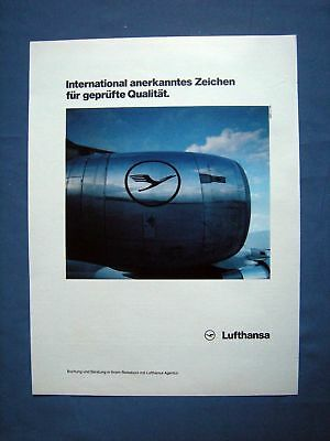 Lufthansa - Orig. Werbung 1986 - Airline Reklame Advertising Publicité