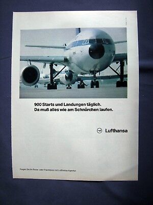 Lufthansa - Orig. Werbung 1980 - Airline Reklame Advertising Publicité