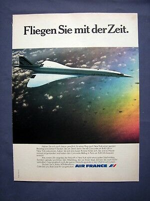 Air France Concorde - Orig. Werbung 1978 - Airline Reklame Advertising Publicité