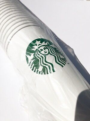 40 Starbucks White Disposable Hot Cold Paper VENTI Cups 20 oz with 40 Lids LOT