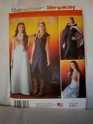 Halloween Cosplay Costume Pattern Simplicity 1246 Size 14 to 22 Game of Thrones