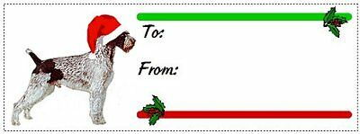 German Wirehaired Pointer Christmas gift tags WATERPROOF 180 pieces