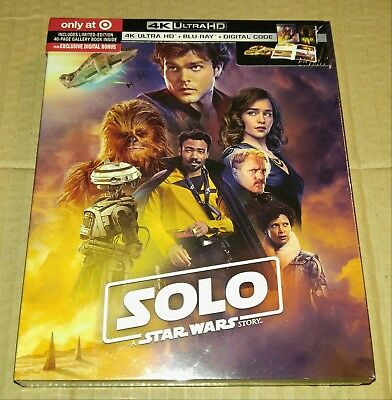 New Solo Star Wars Story 4K UHD/Blu-ray/DC Target USA + Booklet (Not Digibook)
