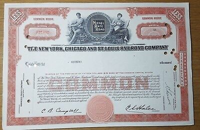 The New York, Chicago & St. Louis Railroad Stock Certificate