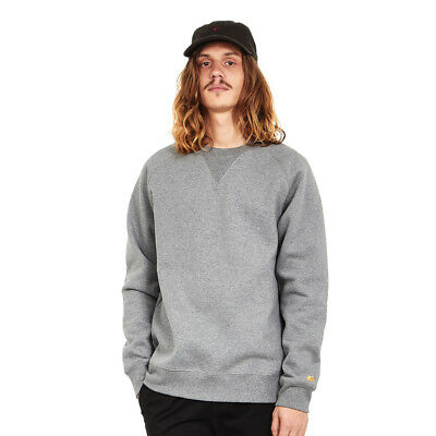 Carhartt WIP - Chase Sweat Dark Grey Heather / Gold Pullover Rundhals