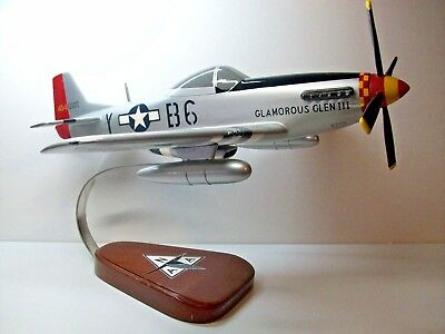 """Beautiful Hand Carved P-51 Mustang Glamorous Glenn Gen Yeager 16"""" L X 18`"""" Ws"""