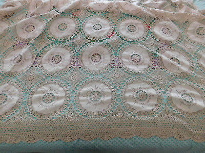 Vintage European Tablecloth Lace & Linen 160 x 220 cms (or bedspread)