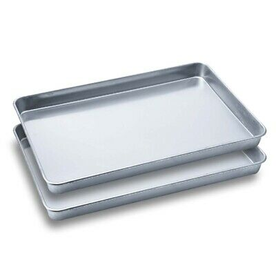 SOGA 2 x Aluminium Oven Baking Pan Cooking Tray for Bakers Gastronorm 60*40*5cm