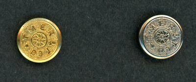 Two The Milwaukee Electric Railway & Transport Co (TMERTCo) uniform buttons