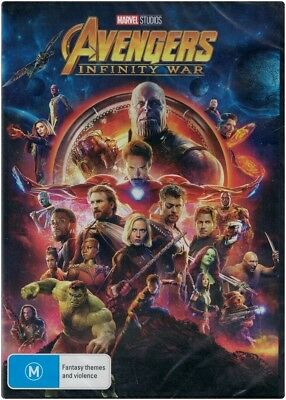"""AVENGERS: INFINITY WAR"" DVD - Region [4] Brand New"