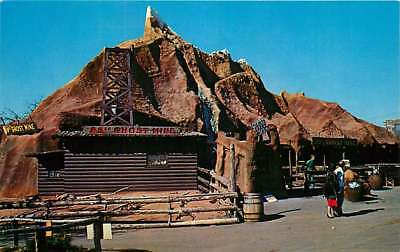 Route 66 Roadside Postcard Frontier City USA, '89er Ghost Mine, Oklahoma City OK