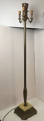"Antique 1930's Signed Fairmount 6-Way 58"" Cast Floor Lamp"