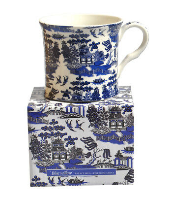 NEW Blue Willow Fine Bone China Palace Tea Coffee Mug Cup