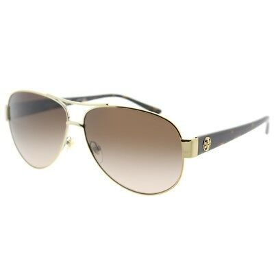 dda2126813 Tory Burch Aviator TY 6057 324013 Womens Gold Frame Brown Gradient Lens