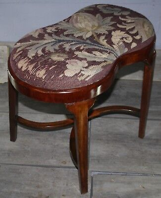 Unusual walnut Art Deco x frame dressing table stool 1930s will post