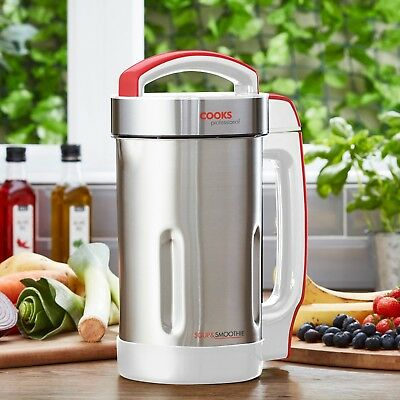 Cooks Professional Electric Soup Maker Smoothie Machine 1.65L Stainless Steel