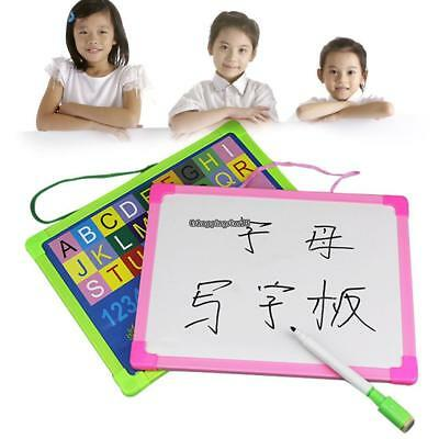 Kids Portable Rewritable Whiteboard Painting Writing Drawing Board EH7E