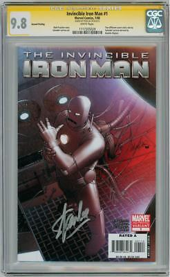 Invincible Iron Man #1 Variant Cgc 9.8 Signature Series Signed Stan Lee Marvel