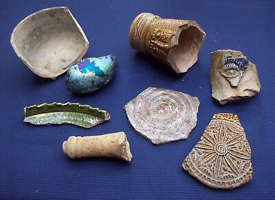 Nice Lot of Pottery Parts Bellarmiine Smoothing Glass 1600/1700's