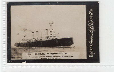 Vintage 1901 Photograph Card of the HMS POWERFUL China Station 2nd Boer War
