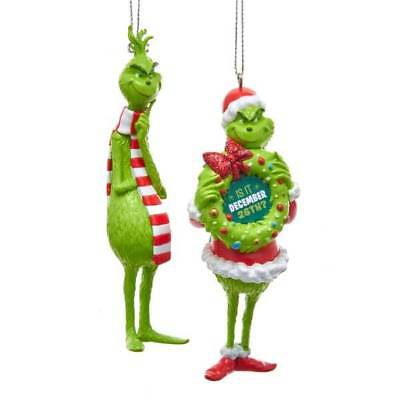 kurt adler christmas ornaments grinch youre a mean one thinking wearing scarf