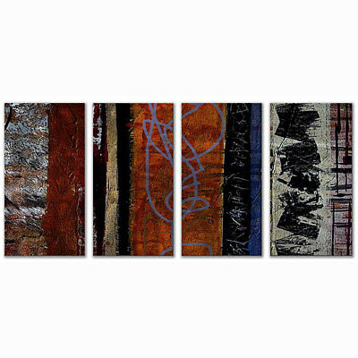 Ruth Palmer 'Eclectic' 4-piece Metal Wall Art Set