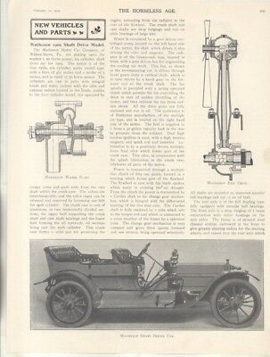 1909 Matheson Auto & Chase Truck Chassis Magazine Article Wilkes Barre PA wz7112