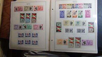 Burundi Stamp collection on Minkus album pages to '90 w/ 750
