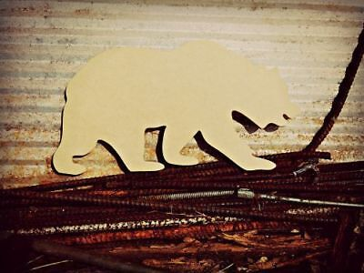 Wood Grizzly Bear Shape, Unfinished Shape, Wood Cutout, Wooden Paintable Craft