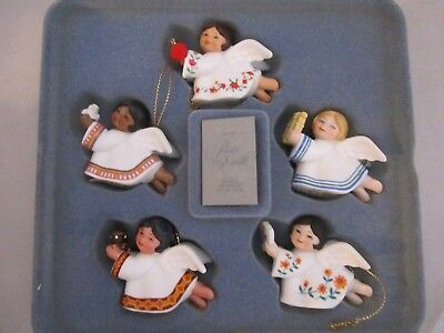 Lot of 5 AVON CHRISTMAS ORNAMENT COLLECTION PEACE ON EARTH ANGELS 1983 NIB